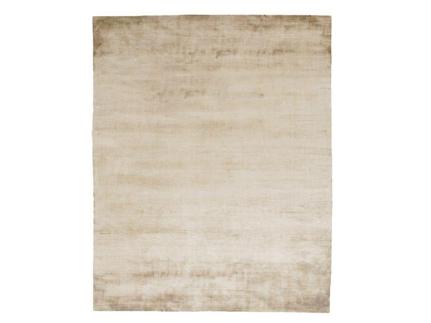 Handmade rectangular silk rug UNTITLED #1080 by HENZEL STUDIO