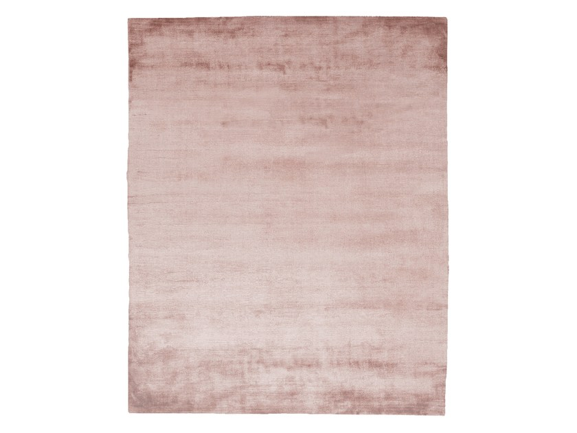 Handmade rectangular silk rug UNTITLED #1081 by HENZEL STUDIO