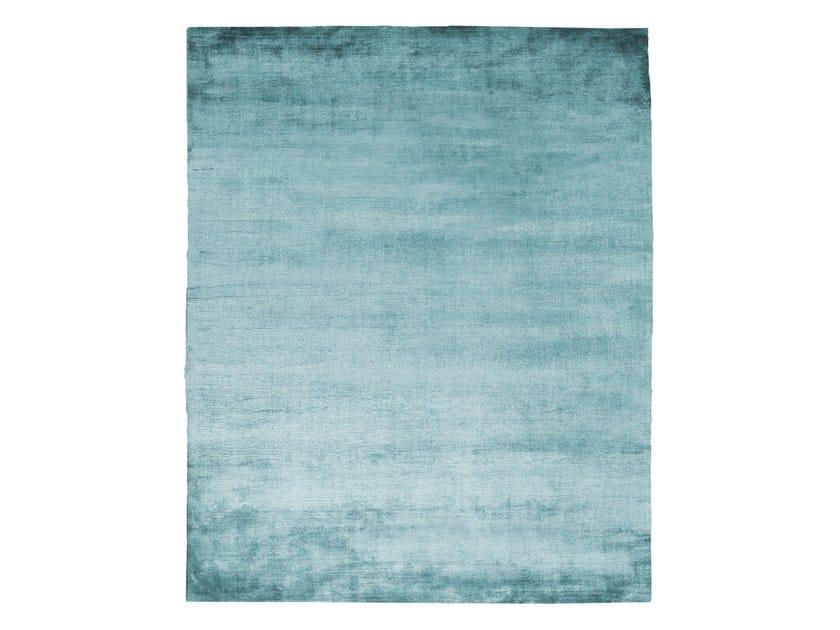 Handmade rectangular silk rug UNTITLED #1085 by HENZEL STUDIO