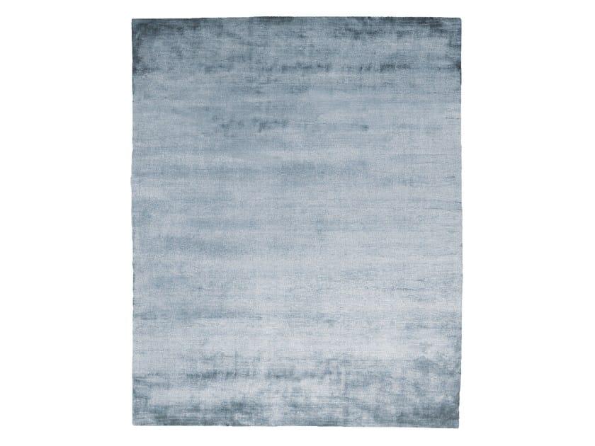 Handmade rectangular silk rug UNTITLED #1086 by HENZEL STUDIO