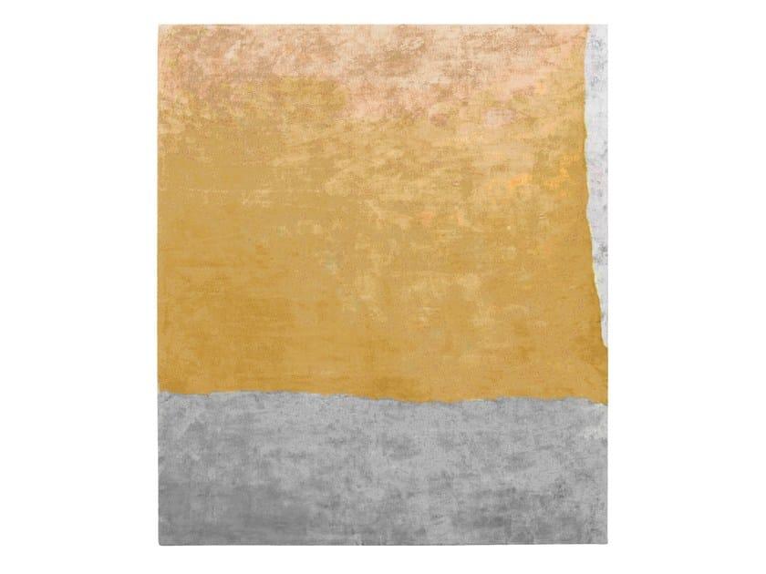 Handmade rectangular silk rug UNTITLED #891 by HENZEL STUDIO