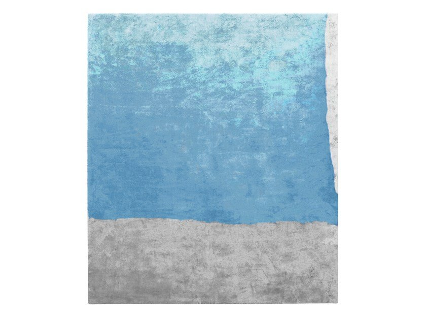 Handmade rectangular silk rug UNTITLED #892 by HENZEL STUDIO