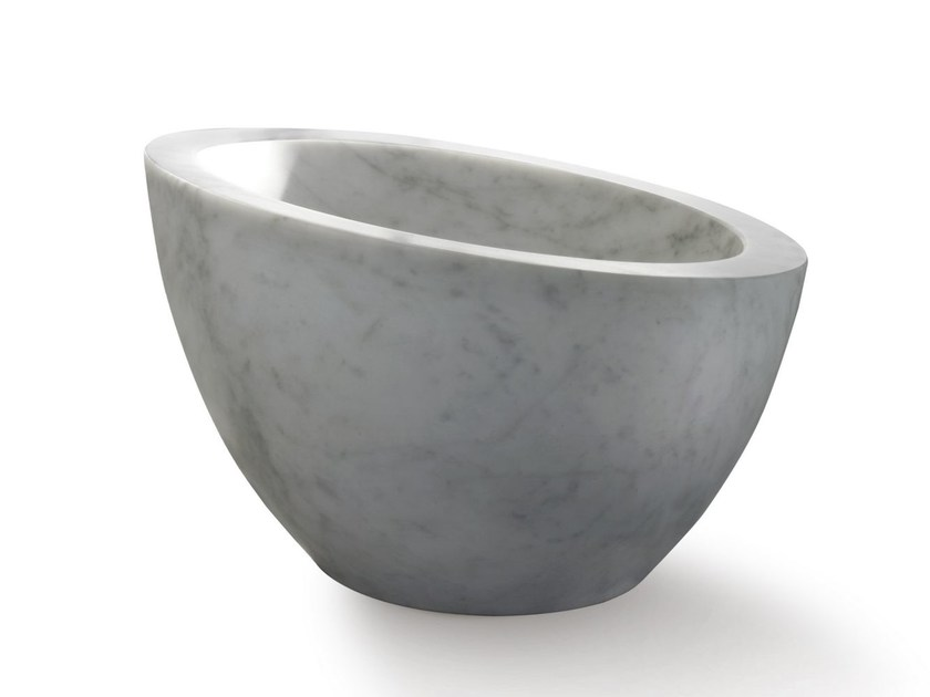 Countertop stone washbasin UOVO by SALVATORI