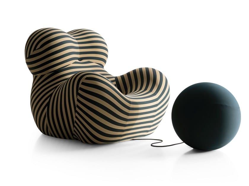 Fabric armchair with footstool UP 50 | Armchair by B&B Italia