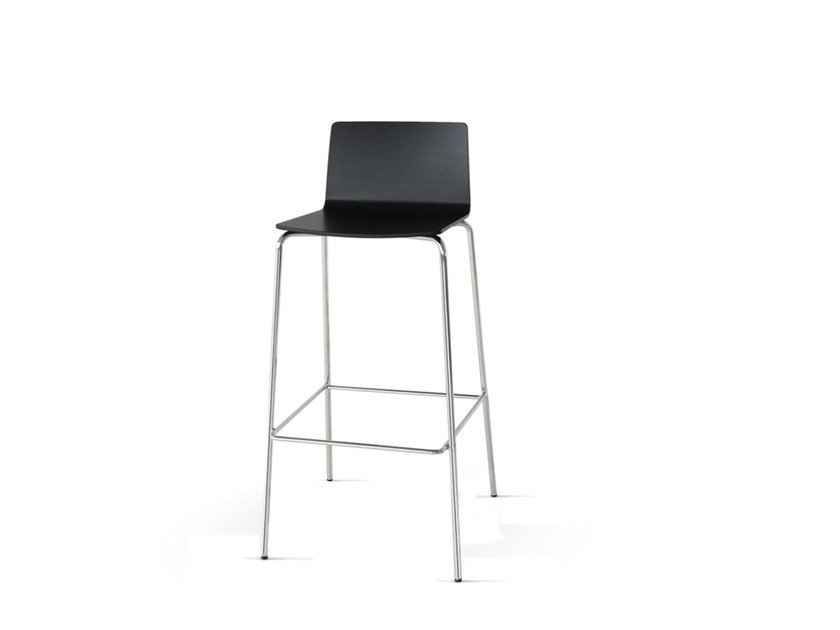Barstool with footrest UPDATE_B | Barstool by Wiesner-Hager