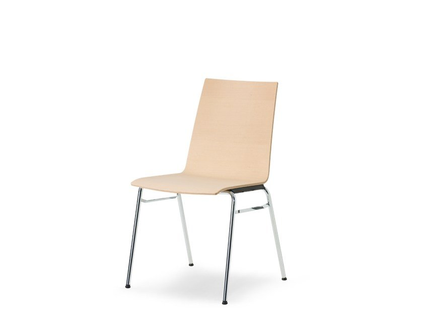 Stackable high-back wooden training chair UPDATE | High-back chair by Wiesner-Hager