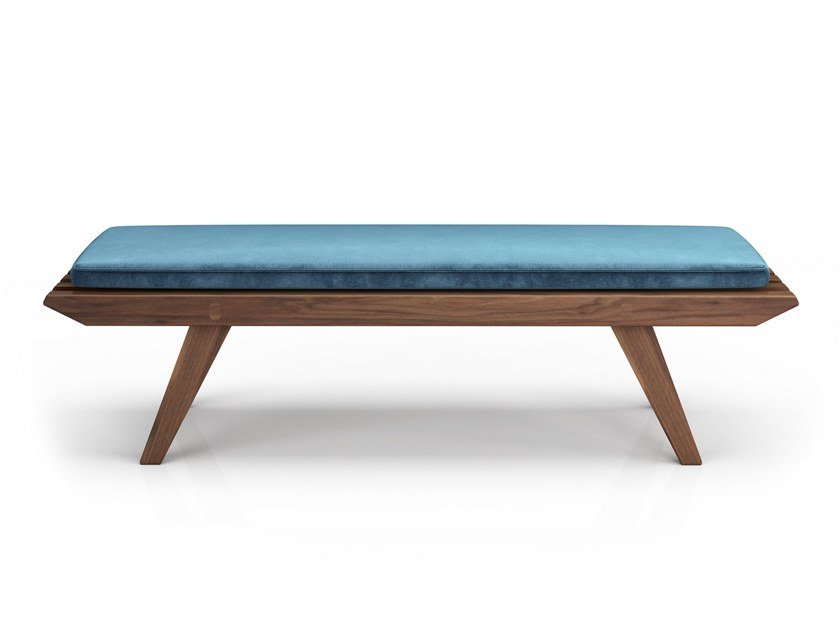 Upholstered walnut bench FRIDA | Upholstered bench by Huppé