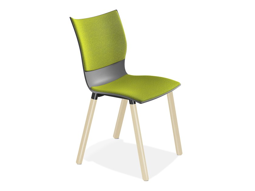 Upholstered plastic chair ONYX V | Upholstered chair by Casala