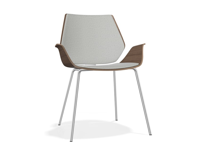 Upholstered wooden chair with armrests CENTURO III | Upholstered chair by Casala