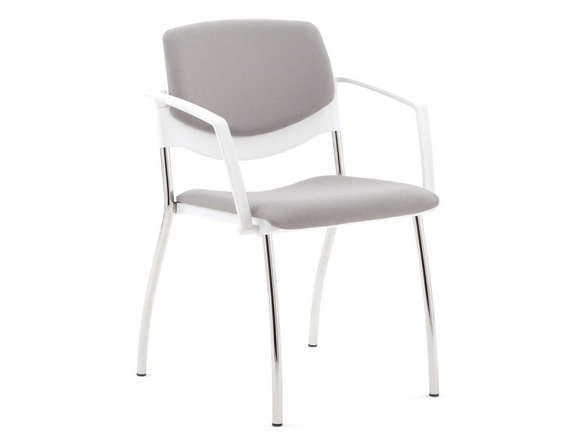Chair with armrests with integrated cushion SUNNY NEW | Upholstered chair by Diemme