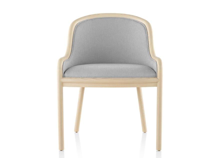 Chaise rembourrée en tissu avec accoudoirs LANDMARK | Chaise rembourrée by Herman Miller