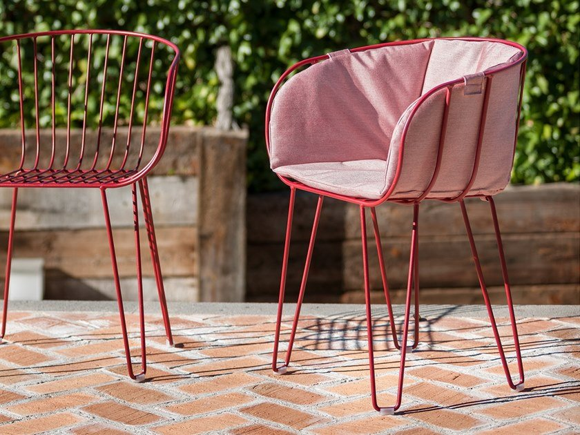 Upholstered stackable garden chair OLIVO | Upholstered chair by iSimar