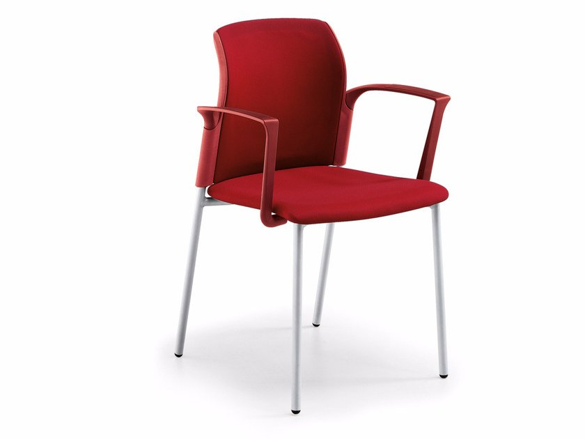 Upholstered chair with armrests COLLEGE   Upholstered chair by Quadrifoglio