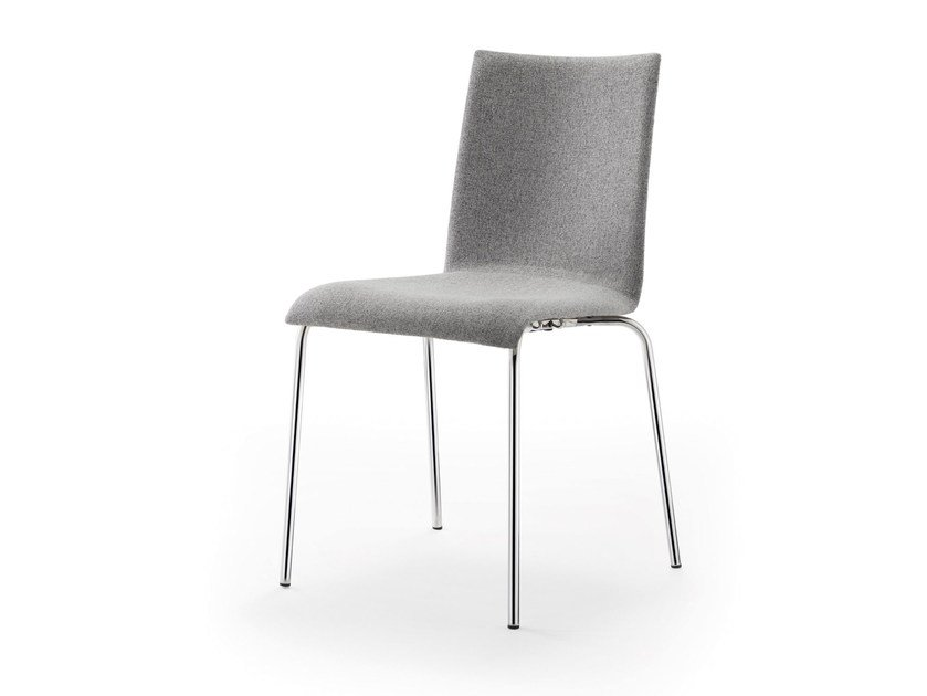Stackable fabric chair ATICON | Upholstered chair by rosconi