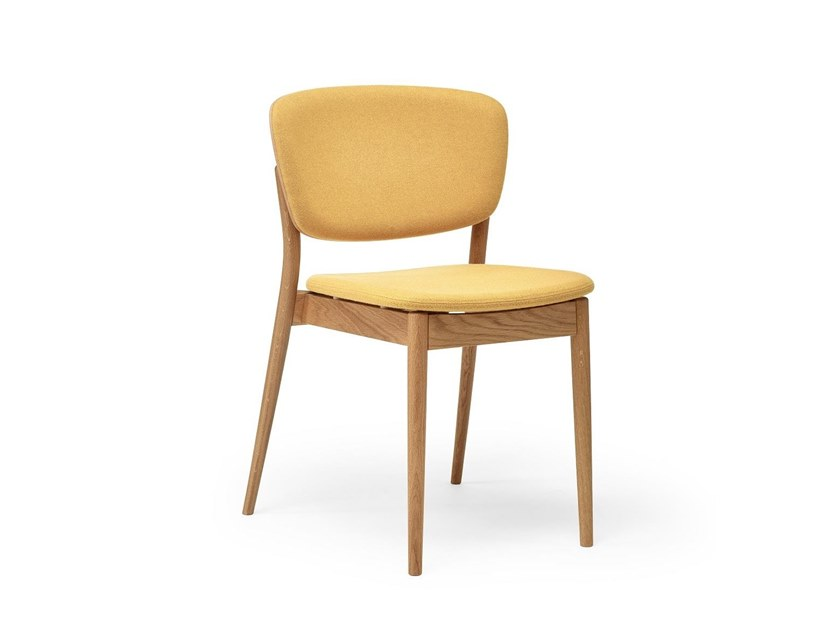 Upholstered stackable wooden chair VALENCIA | Upholstered chair by TON