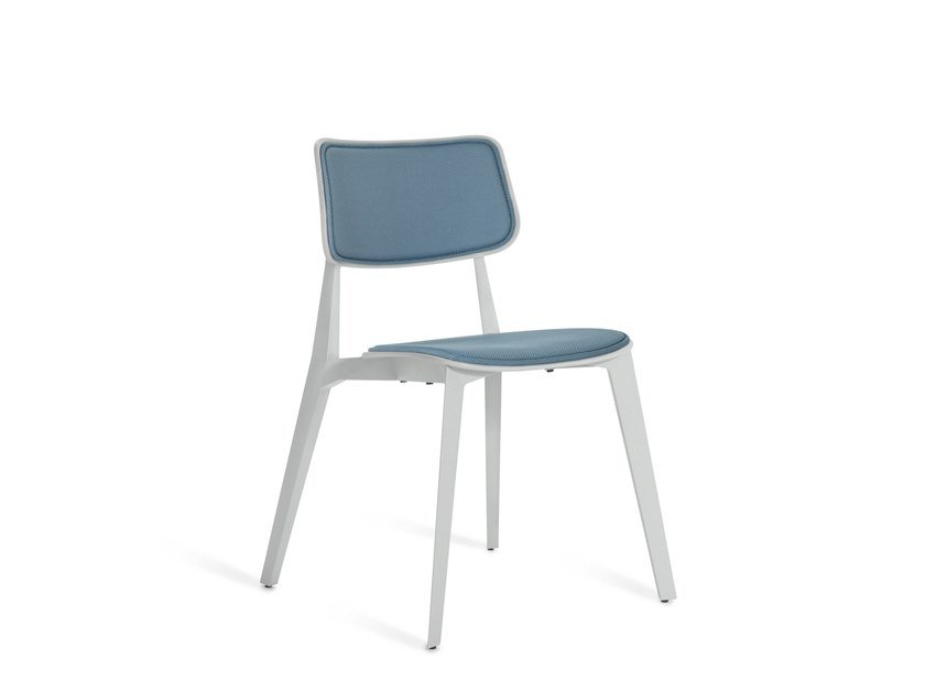 Upholstered stackable chair STELLAR | Upholstered chair by TOOU