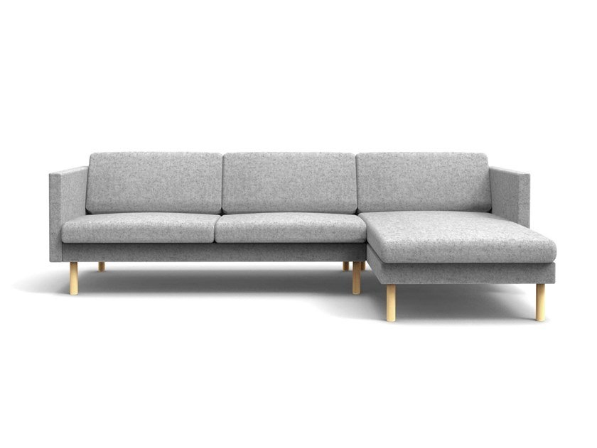 Modular 3 seater fabric sofa with chaise longue LEAF | 3 seater sofa by OOT OOT