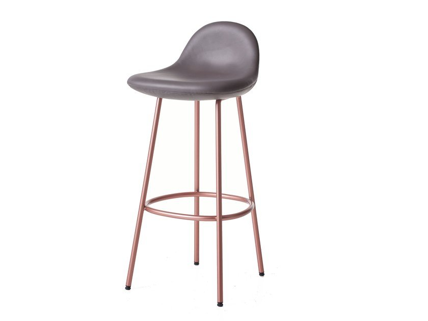 High upholstered barstool PEBBLE | Upholstered stool by BassamFellows