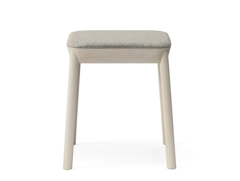 Upholstered beech stool DRUM | Upholstered stool by BILLIANI