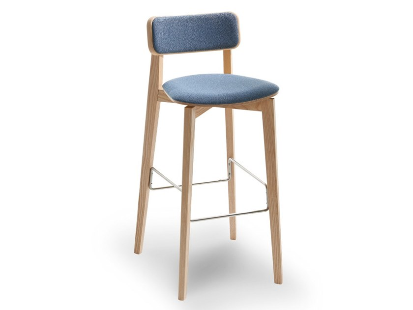 High upholstered barstool ARIANNA | Upholstered stool by Passoni