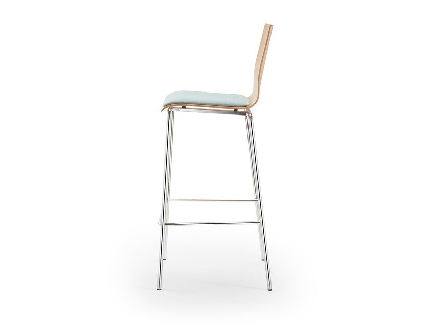 High upholstered stackable stool GARCIA | Upholstered stool by rosconi