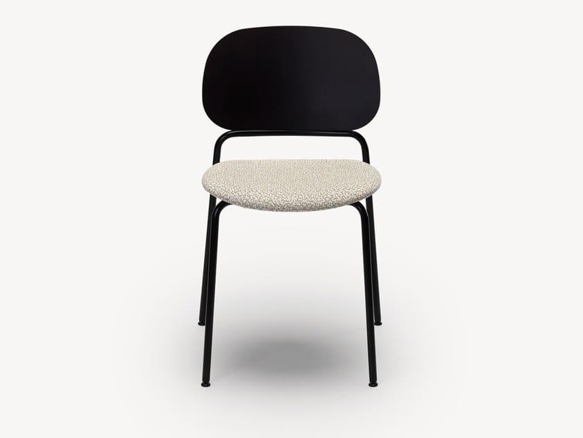 Sedia impilabile in legno impiallacciato con cuscino integrato UPON | Sedia con cuscino integrato by Zilio A&C