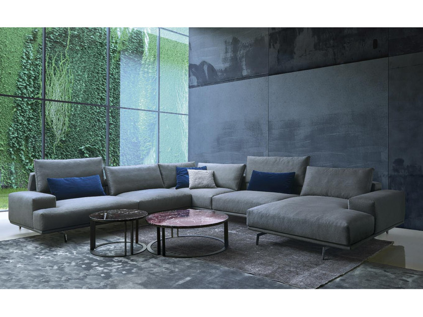 Corner fabric sofa UPPER | Corner sofa by Papadatos