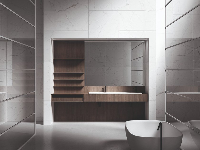 Mobile lavabo con specchio UPPER UNITS | Mobile lavabo by Boffi