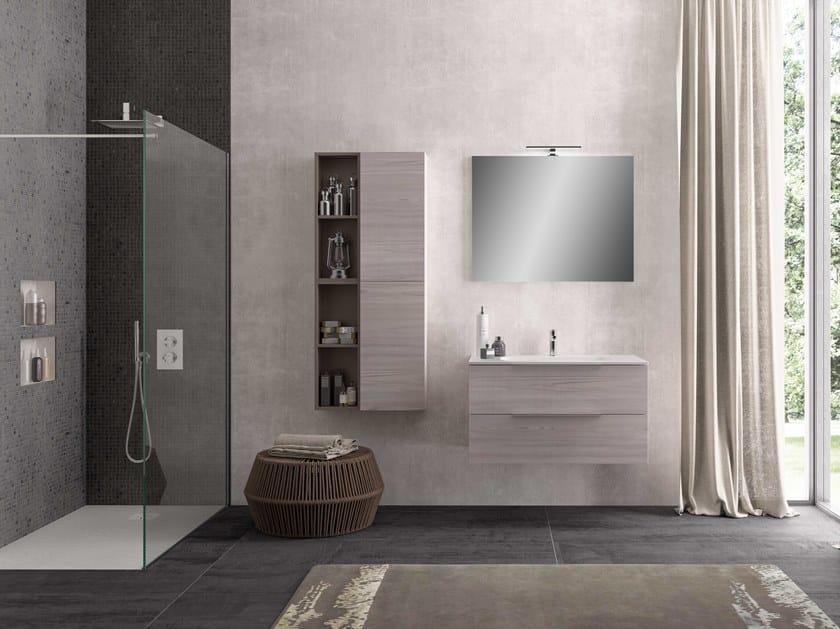 Single wall-mounted vanity unit UR02 | Vanity unit by Mobiltesino
