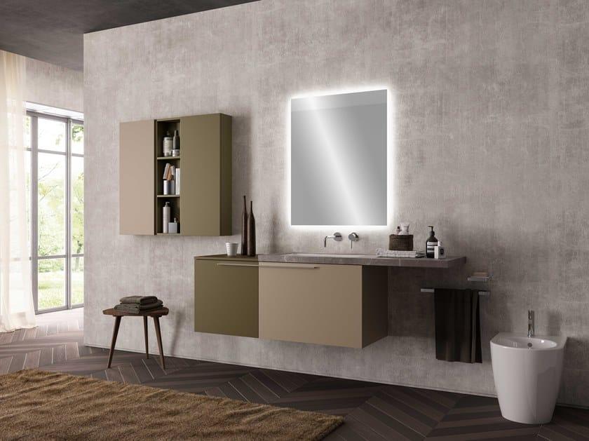 Single wall-mounted vanity unit UR05 | Vanity unit by Mobiltesino