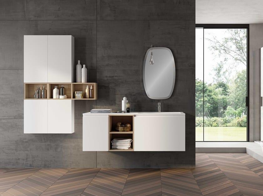 Single wall-mounted vanity unit UR07 | Vanity unit by Mobiltesino