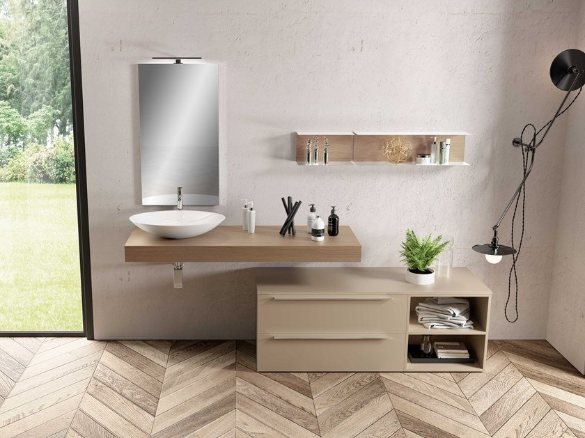 Single washbasin countertop UR11 | Washbasin countertop by Mobiltesino