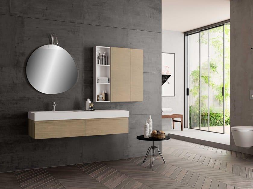 Single wall-mounted vanity unit UR17 | Vanity unit by Mobiltesino