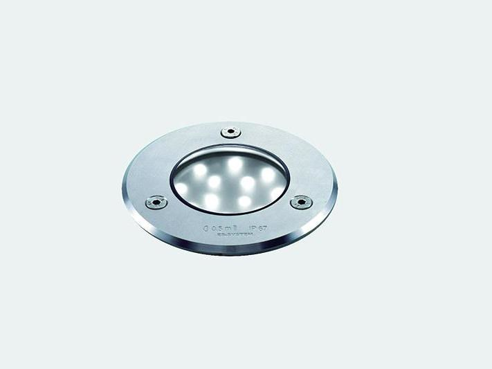 LED walkover light stainless steel steplight URAN 10 by ES-SYSTEM
