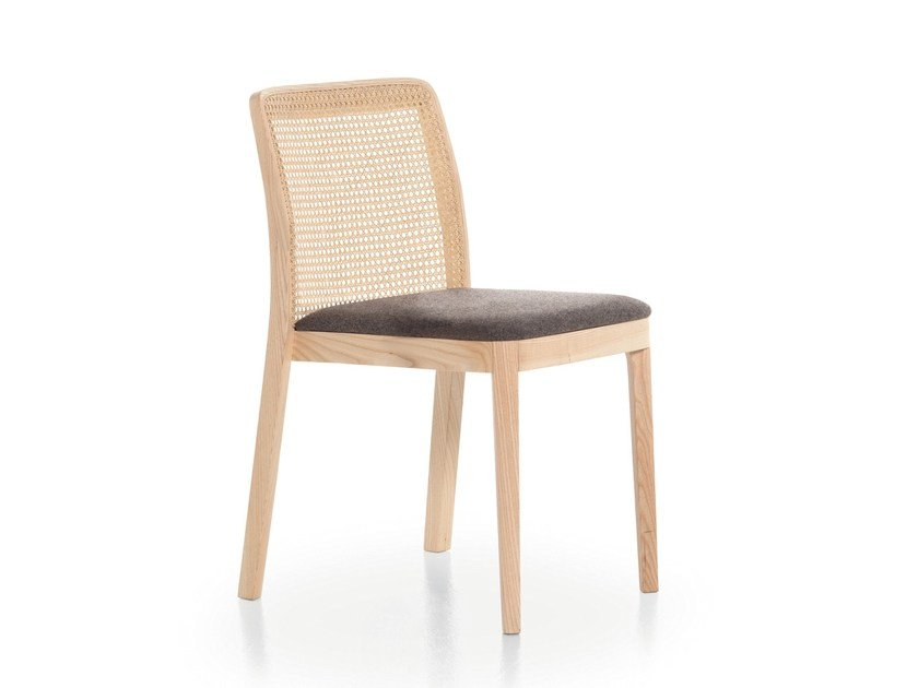 Ash chair with integrated cushion URBAN 11C by Very Wood