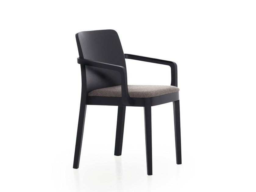 Stackable ash chair with armrests URBAN 12 by Very Wood