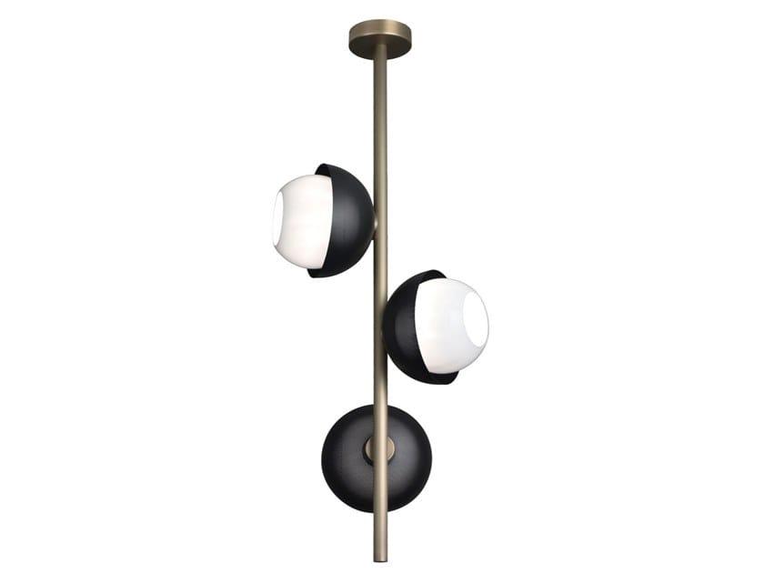 Lampada da soffitto a LED in ottone con dimmer URBAN 3 | Lampada da soffitto by VeniceM