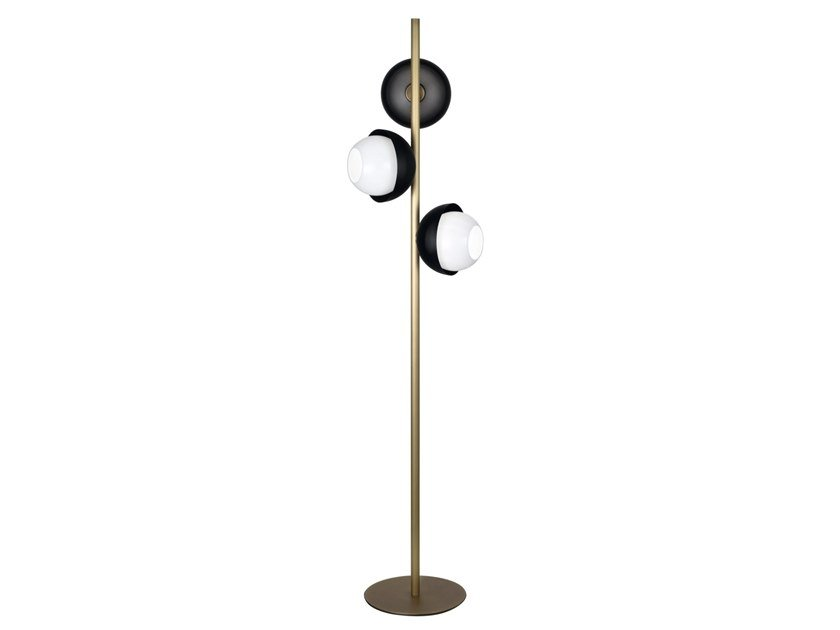 Lampada da terra a LED in ottone con dimmer URBAN 3 | Lampada da terra by VeniceM