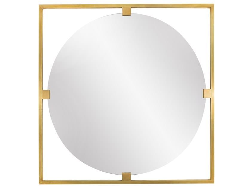 Round framed brass mirror TIMELESS URBAN 50 by Il Bronzetto