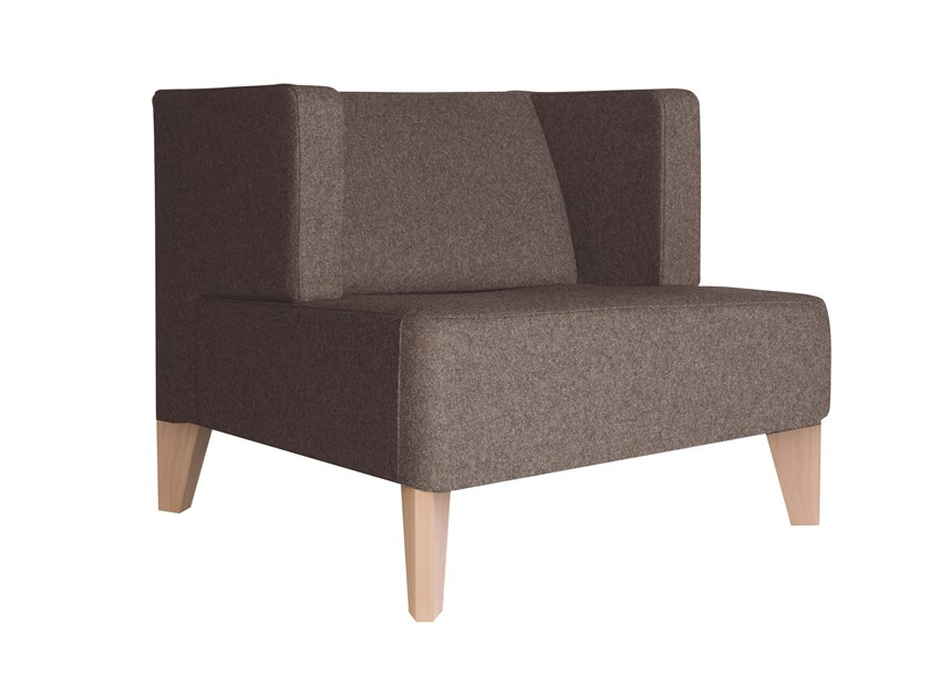 Fabric armchair URBAN 836 by Capdell