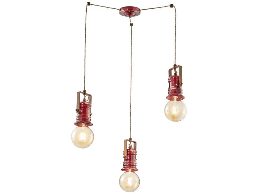 Swivel adjustable ceramic chandelier URBAN | Swivel chandelier by FERROLUCE