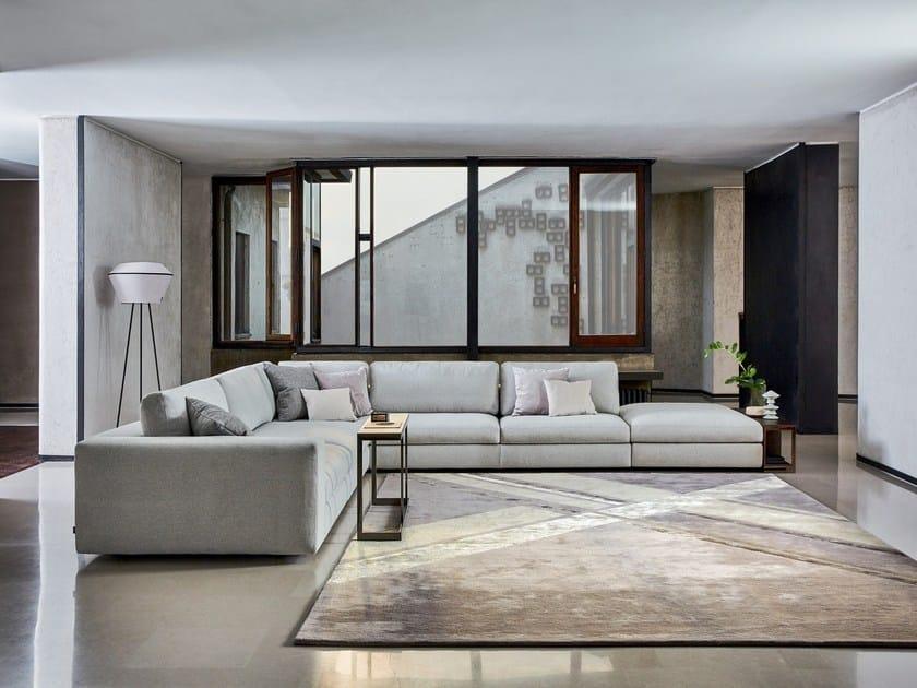 Corner modular fabric sofa URBAN | Corner sofa by Ditre Italia