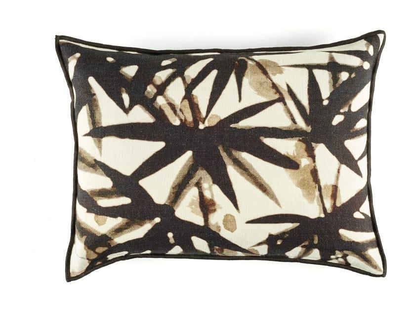 Rectangular linen cushion with floral pattern URBAN JUNGLE by Élitis