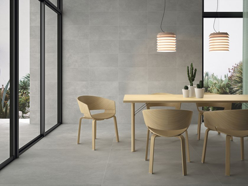 Indoor/outdoor wall/floor tiles with concrete effect URBAN by PERONDA
