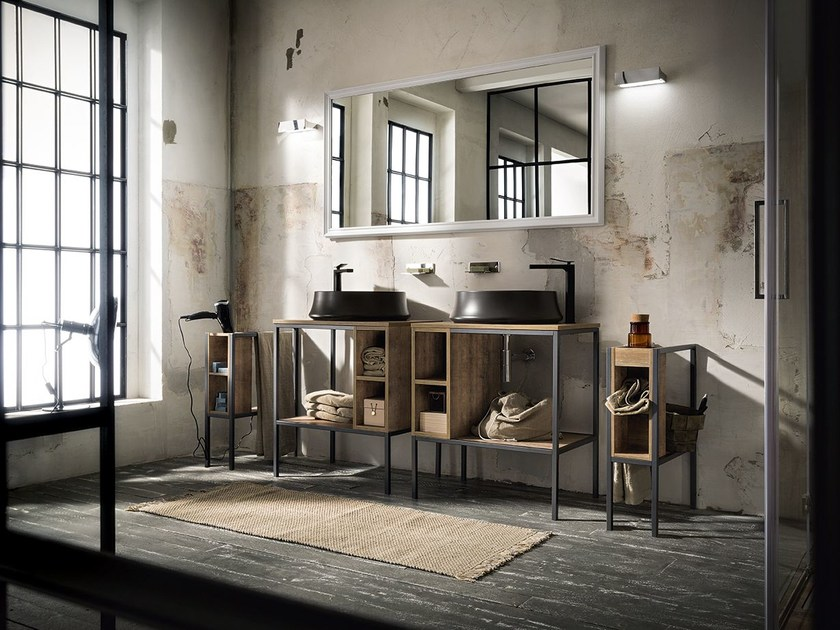 Single vanity unit URBAN PLAY 4/5 by Cerasa