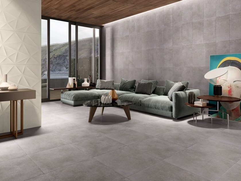 Porcelain stoneware wall/floor tiles with stone effect URBAN by Revigrés