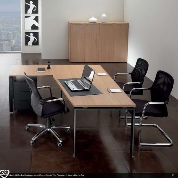 L-shaped office desk US | L-shaped office desk by Castellani.it