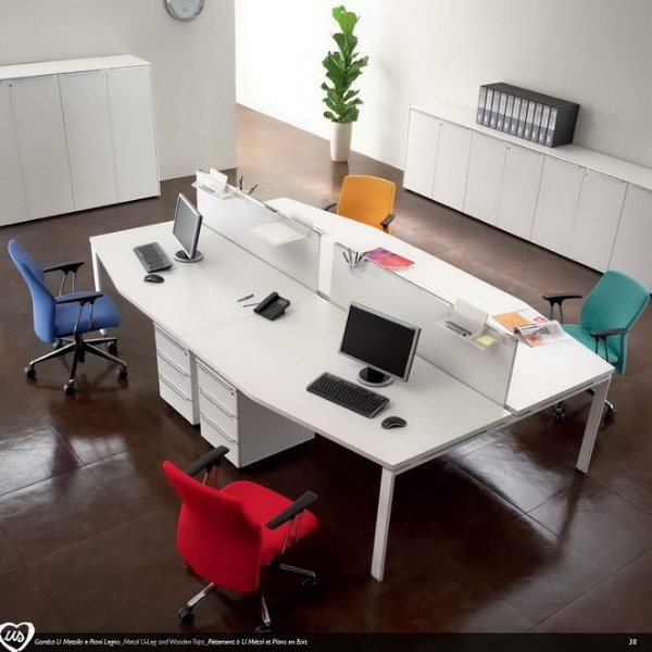 Multiple office workstation US | Office workstation by Castellani.it