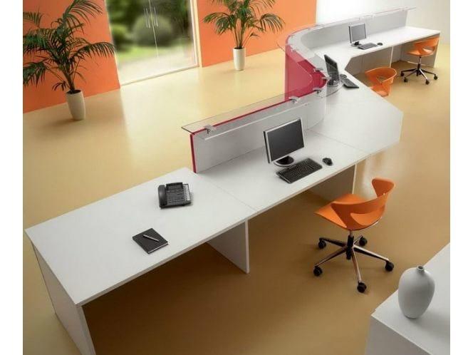 Banco reception per ufficio modulare us banco reception for Reception per ufficio