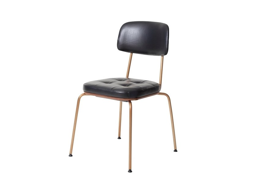 Stackable leather chair UTILITY U | Stacking Chair by STELLAR WORKS